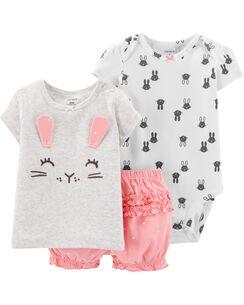 b3579dd4511cb 3-Piece Bunny Little Short Set