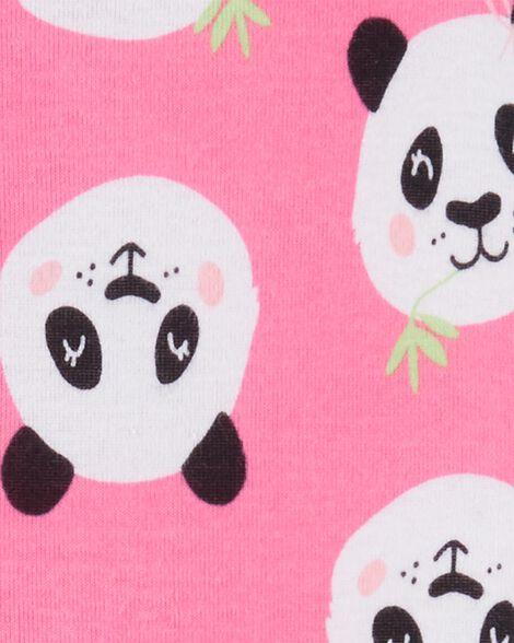 1-Piece Panda Snug Fit Cotton Footie PJs