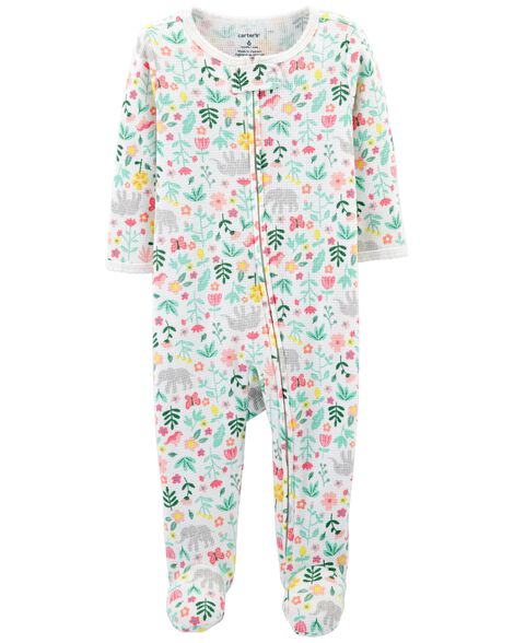 d1ef42f01b9a Floral Zip-Up Thermal Sleep   Play