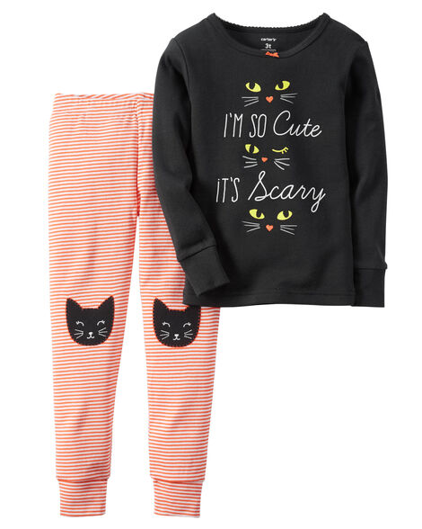 2 piece snug fit cotton halloween pjs