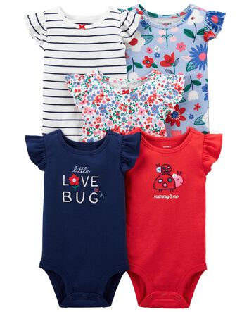 The Children Place Baby Girl bodysuit 5 count
