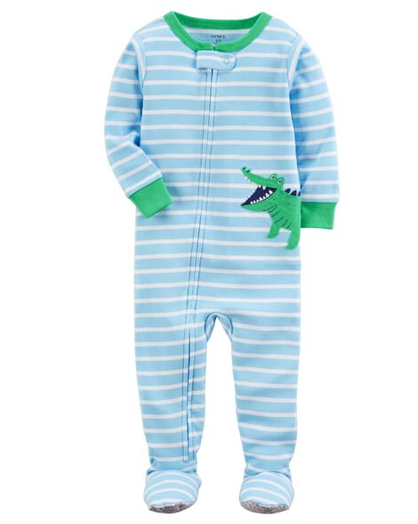 22a37cbe2 1-Piece Alligator Snug Fit Cotton PJs