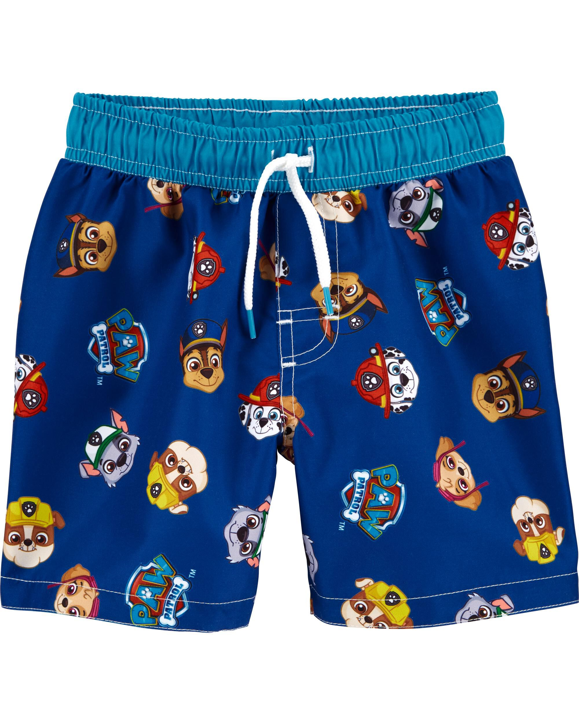 Boys Official Licensed Paw Patrol Blue Swimming Shorts Swim Trunk Shorts