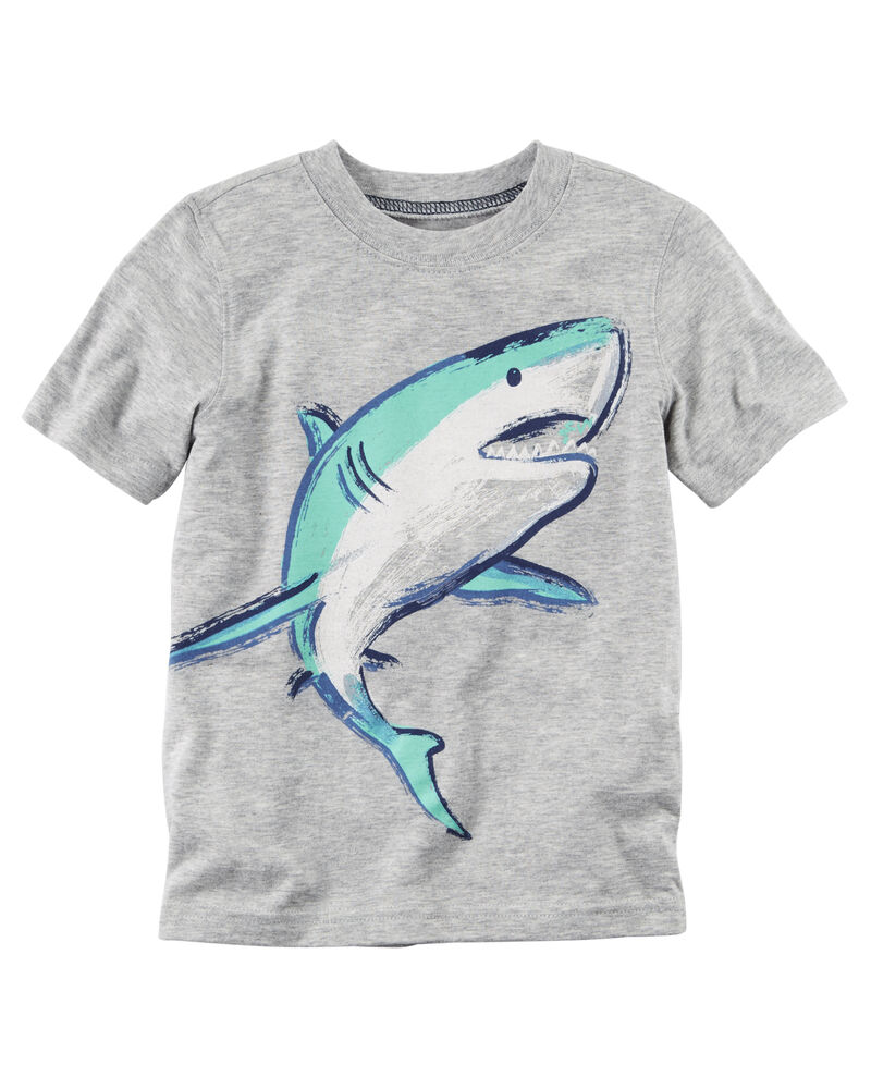 Carter/'s Baby Boys Shark Print Polo T‑Shirt size 6m and 18m NWT