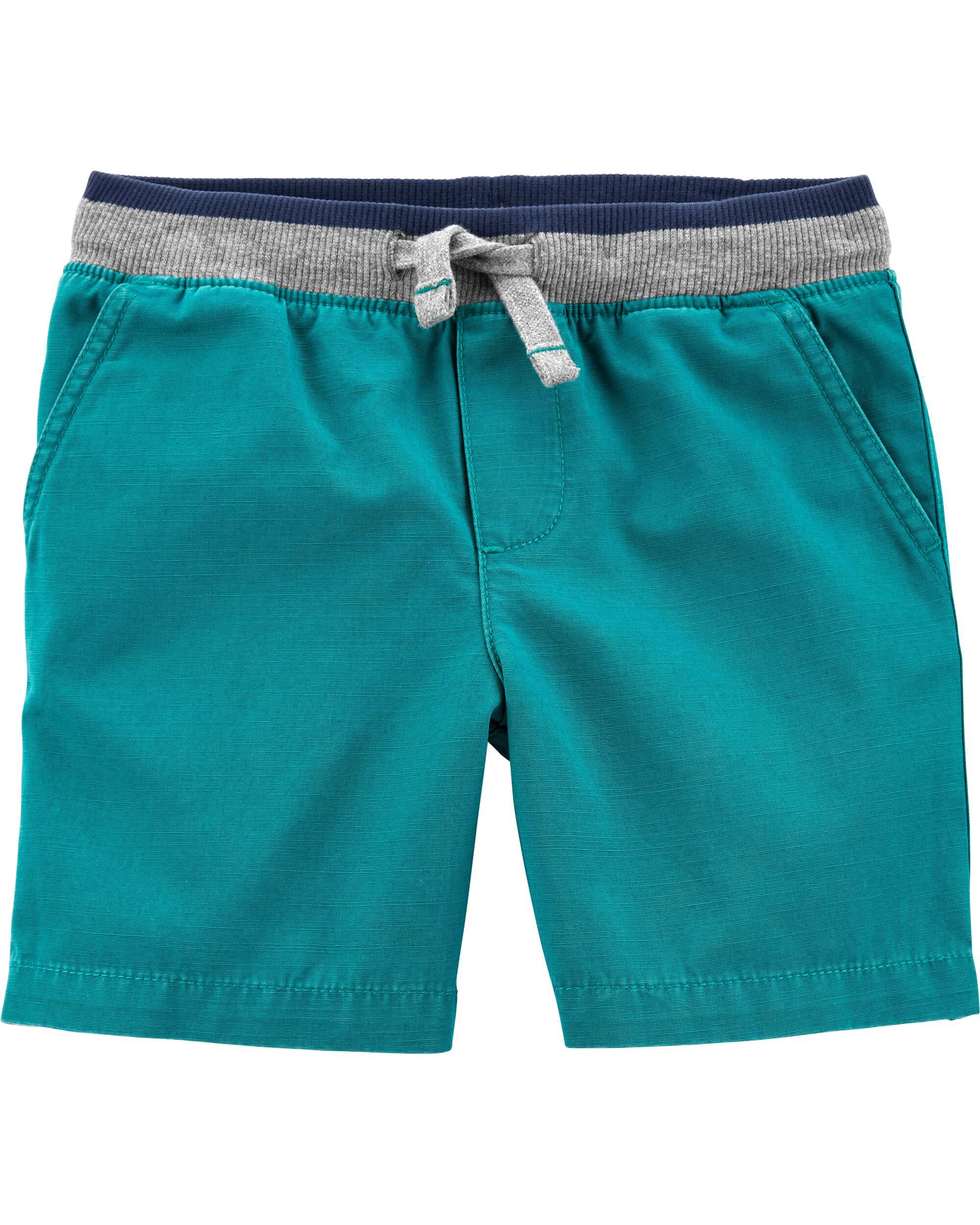 Durable Comfortable NWT Carter/'s Boys Teal Plaid Shorts 3T /& 4T Retail $16
