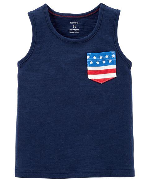 American Flag Pocket Tank