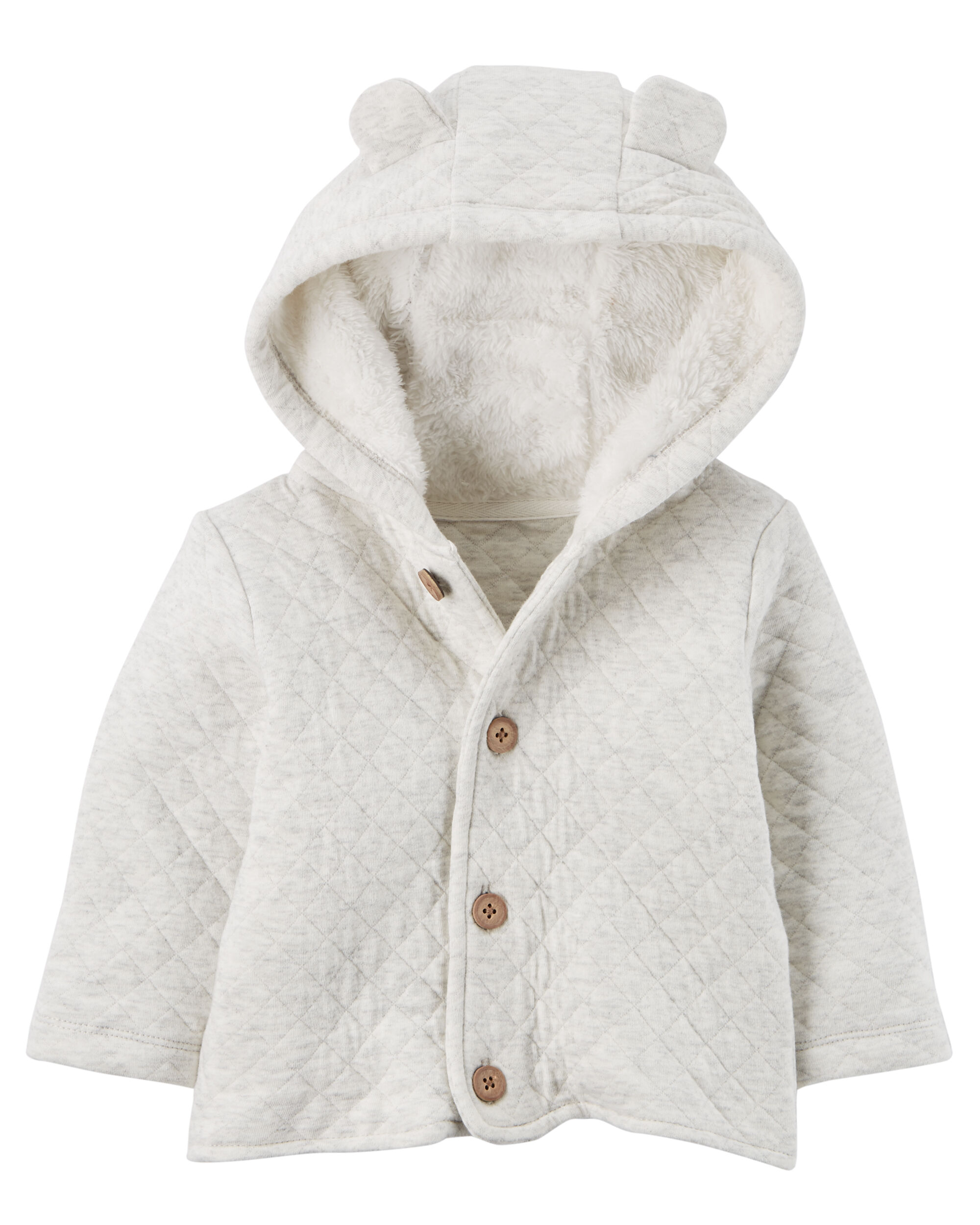 Sherpa-Lined Quilted Cardigan | Carters.com : quilted cardigan - Adamdwight.com