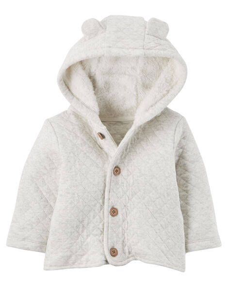 585a728616b2 Sherpa-Lined Quilted Cardigan