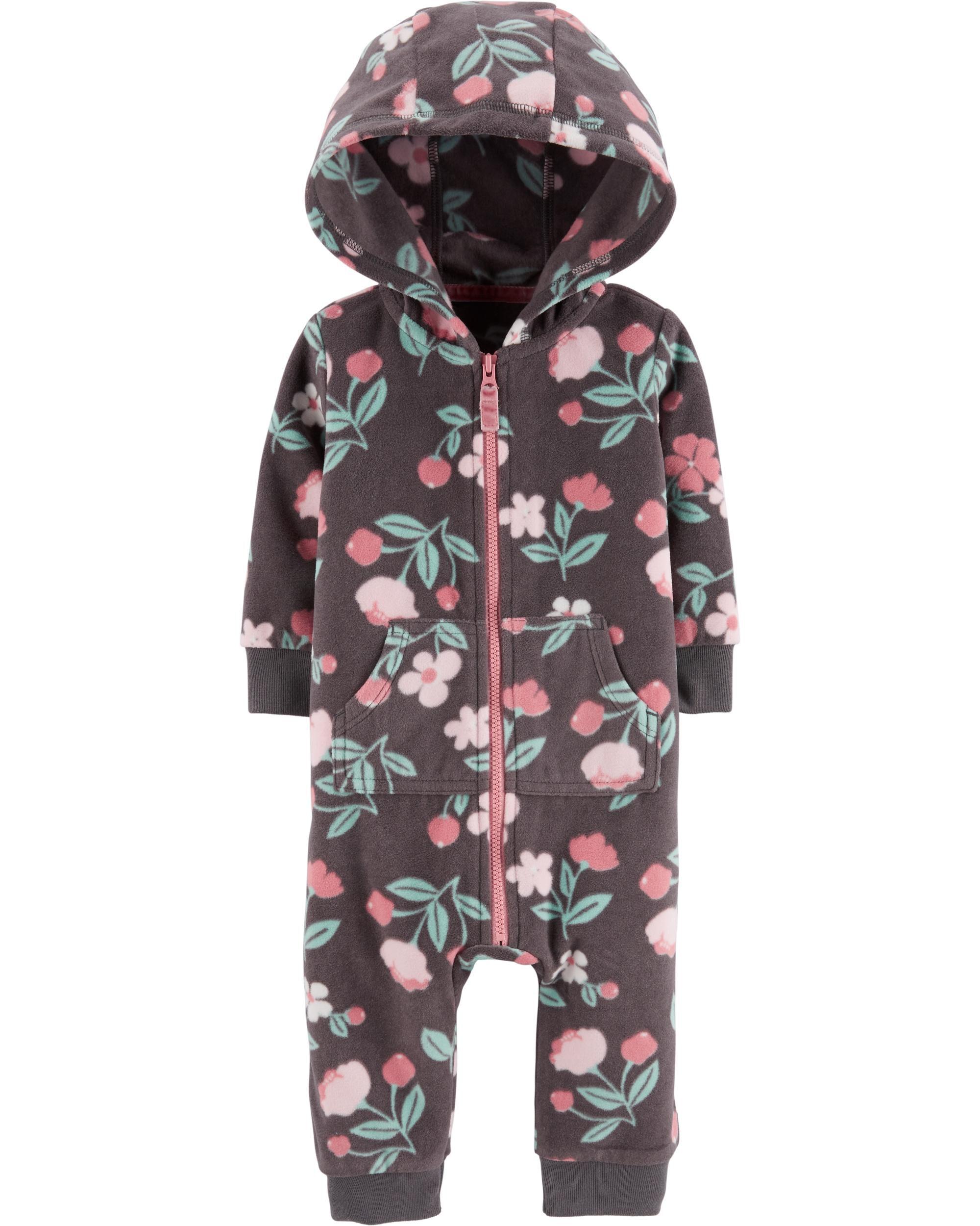 Hooded Floral Jumpsuit
