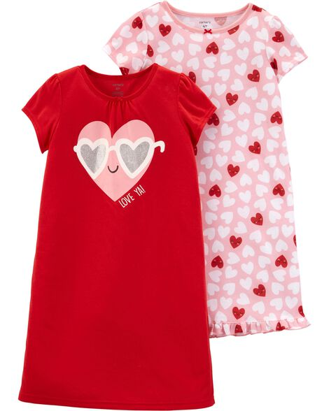 97caaaf81f Images. 2-Pack Valentine s Day Nightgowns. Loading zoom