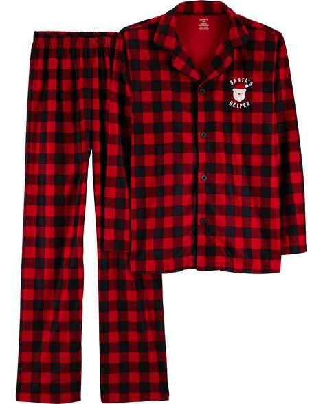 ae246ba95 2-Piece Adult Christmas Lightweight Fleece PJs