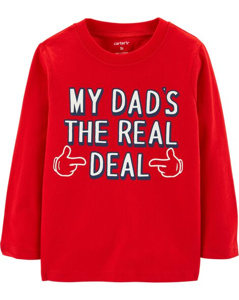 Dad's The Real Deal Jersey Tee
