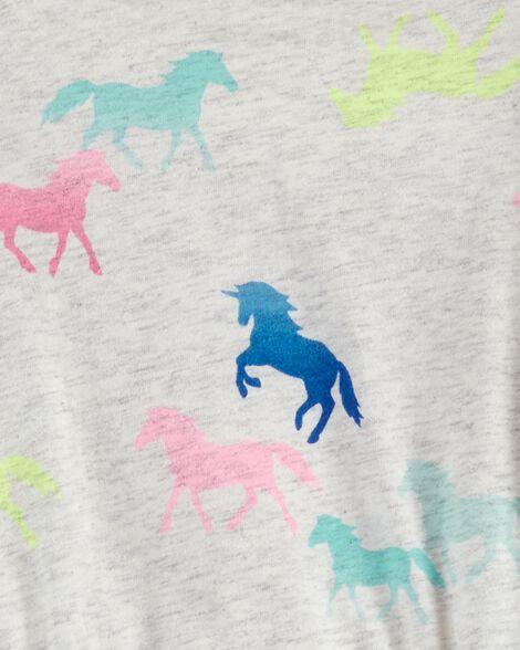 Horse Long-Sleeve Pocket Dress