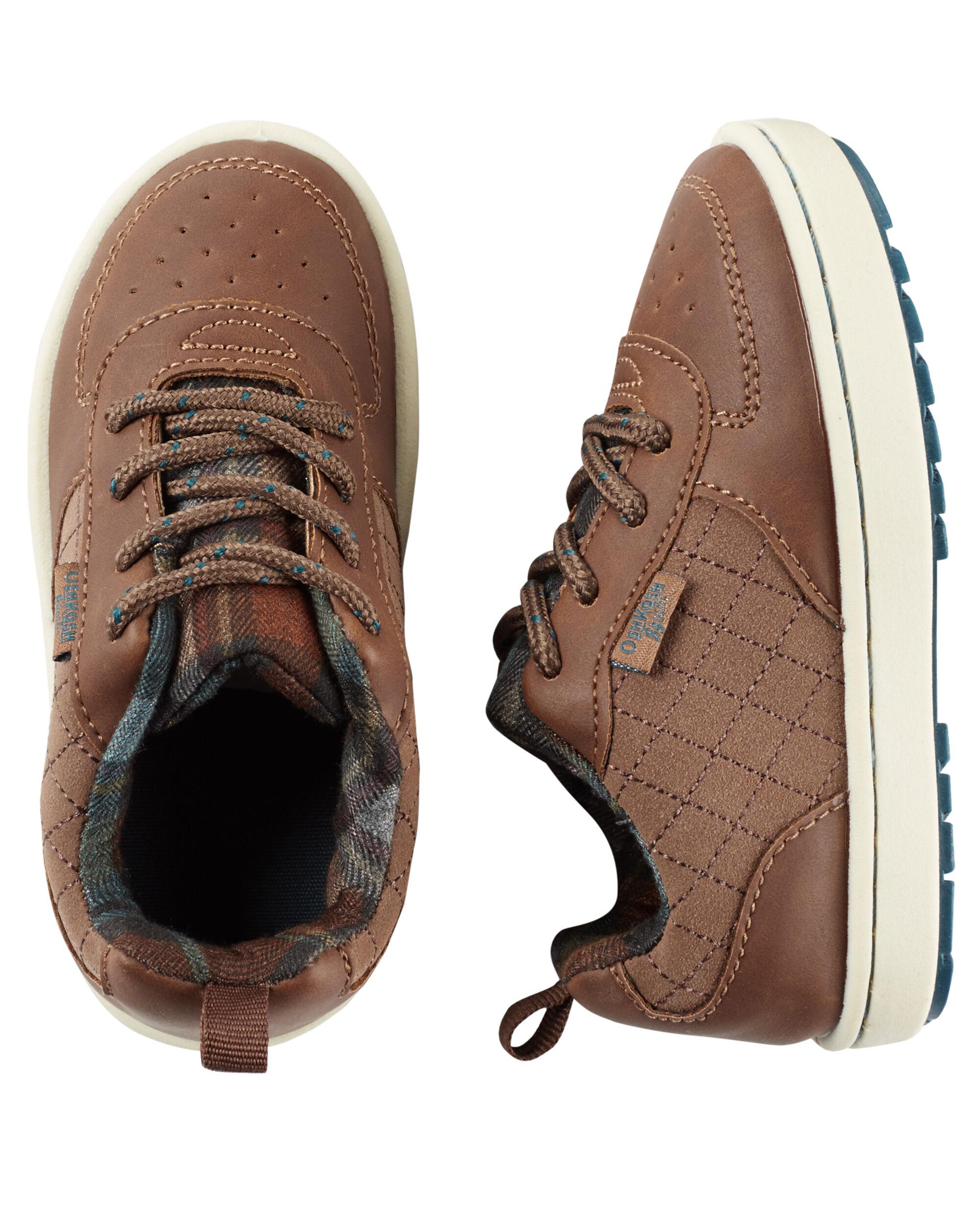 Kid Boy OshKosh Faux Leather Sneakers