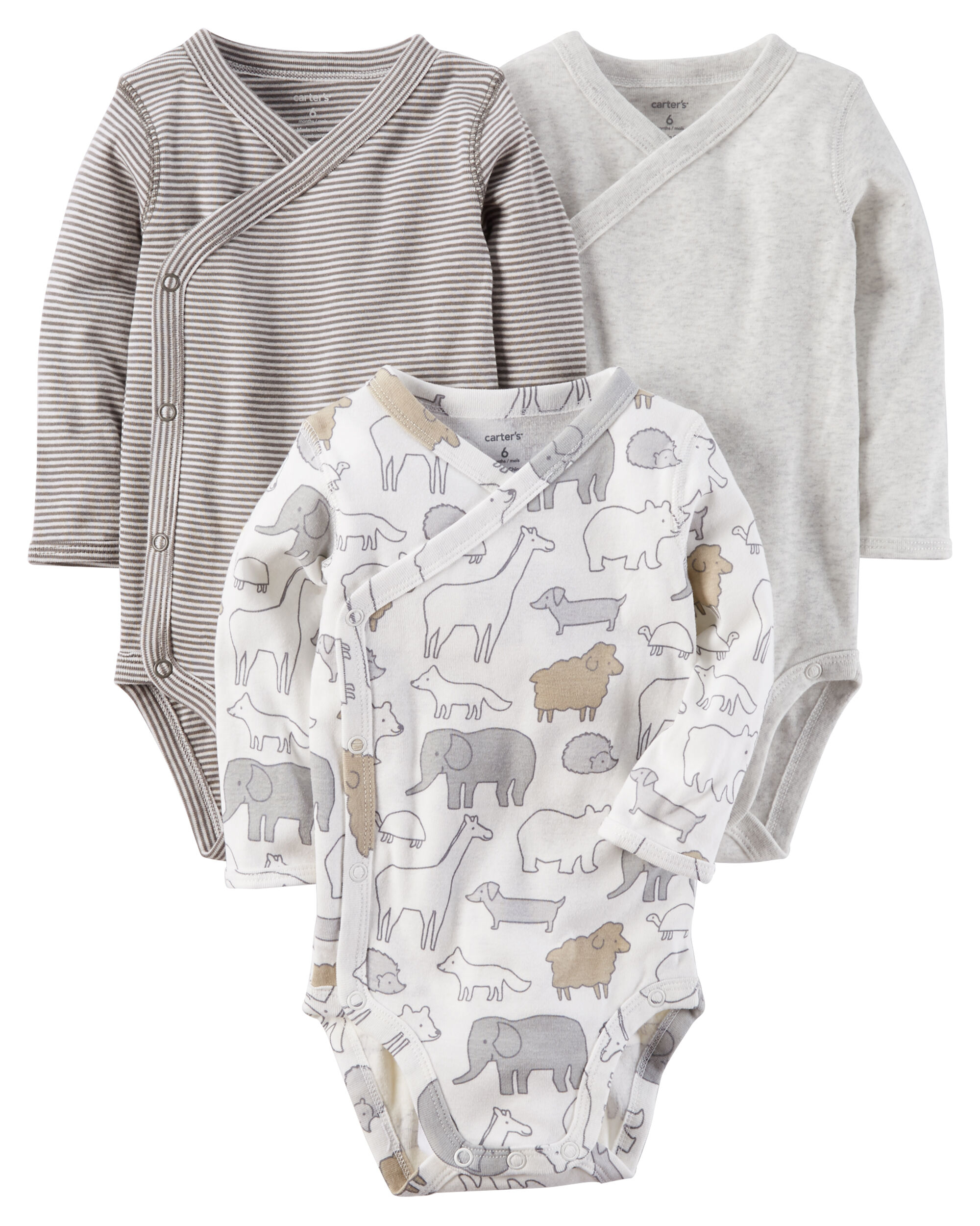 3-Pack Side-Snap Bodysuits | Carters.com