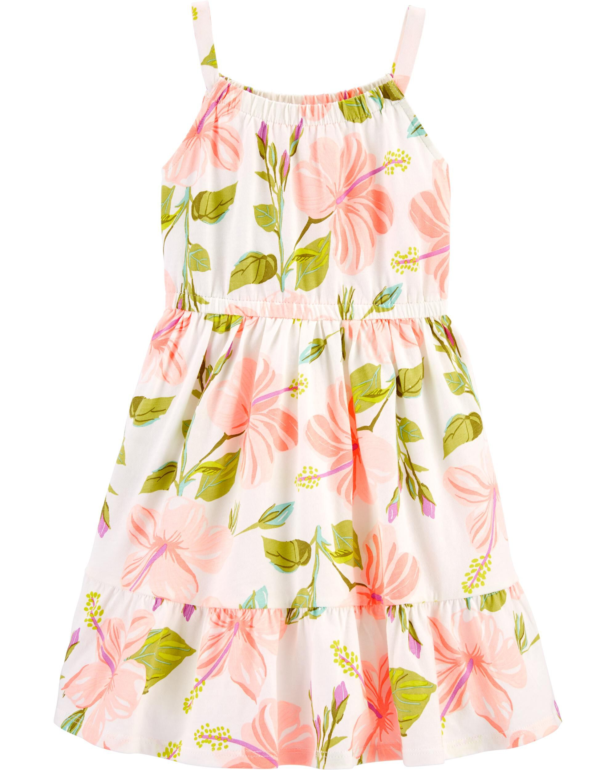 Floral Tiered Tank Dress
