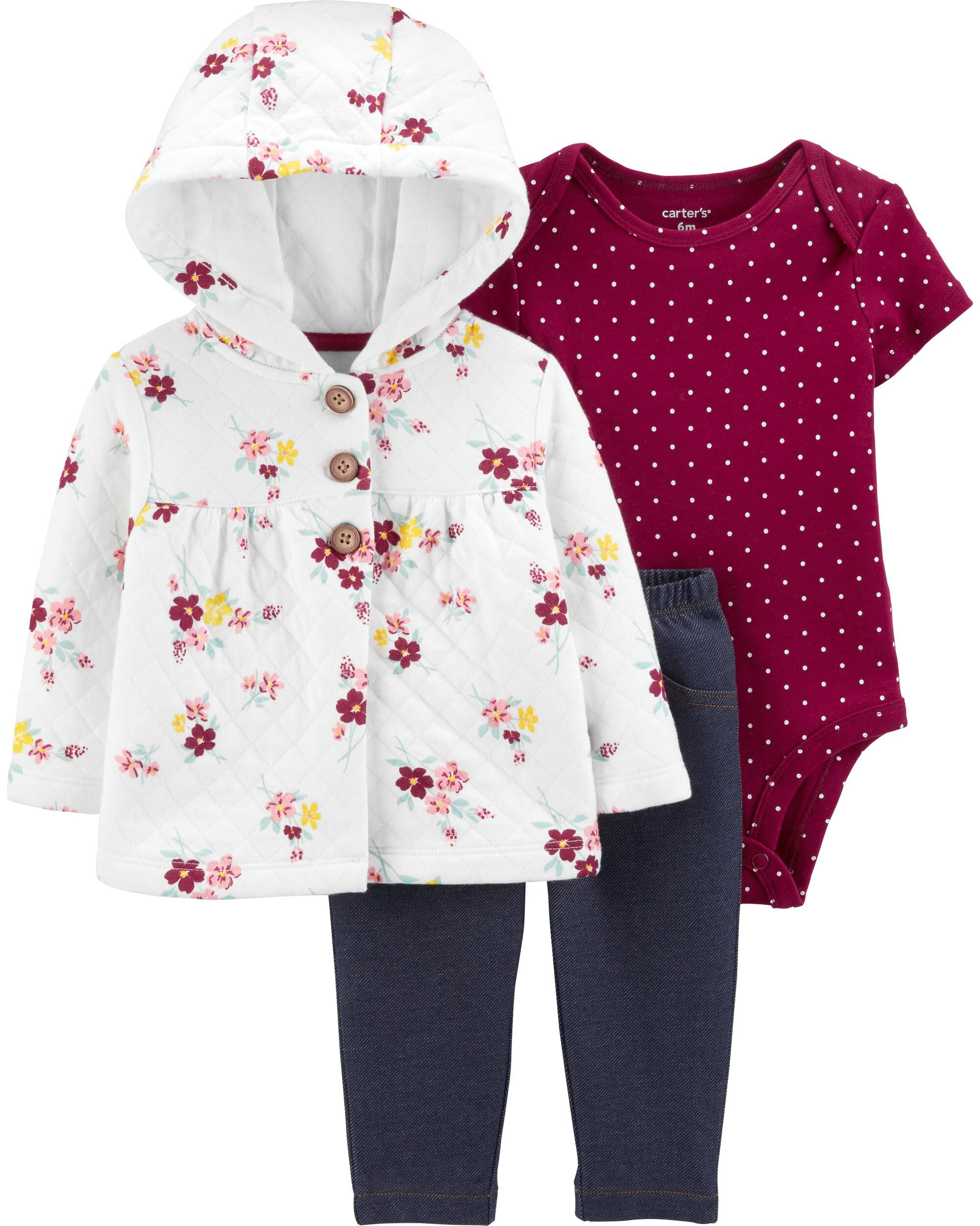 3-Piece Quilted Little Jacket Set