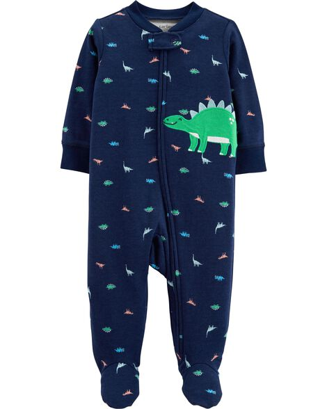 8d1f89707273 Dinosaur Zip-Up Cotton Sleep   Play