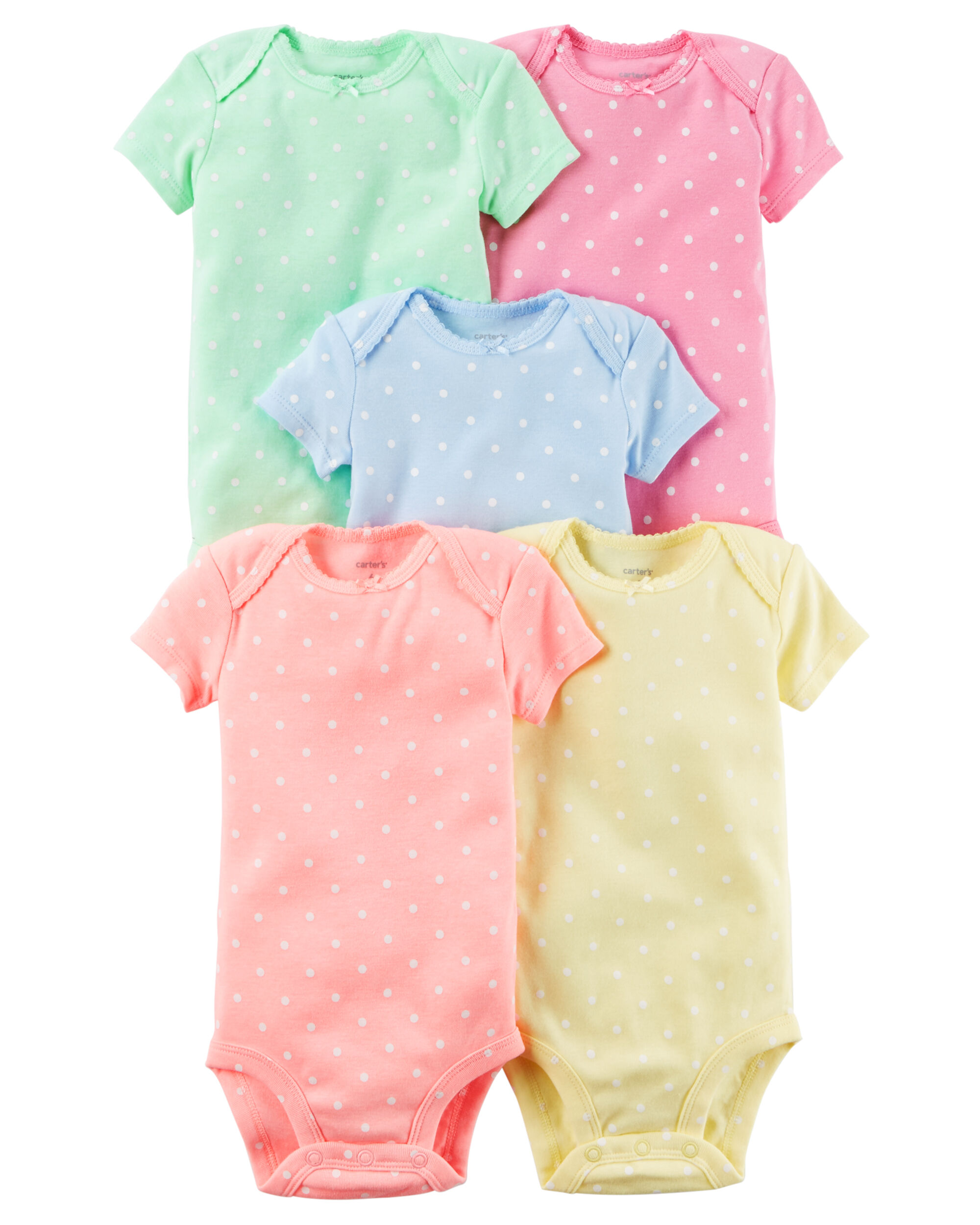 5 Pack Short Sleeve Bodysuits