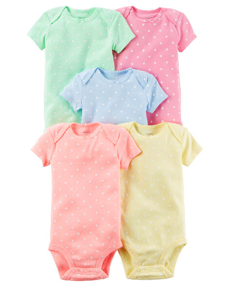 157d523e6 5-Pack Short-Sleeve Bodysuits | Carters.com