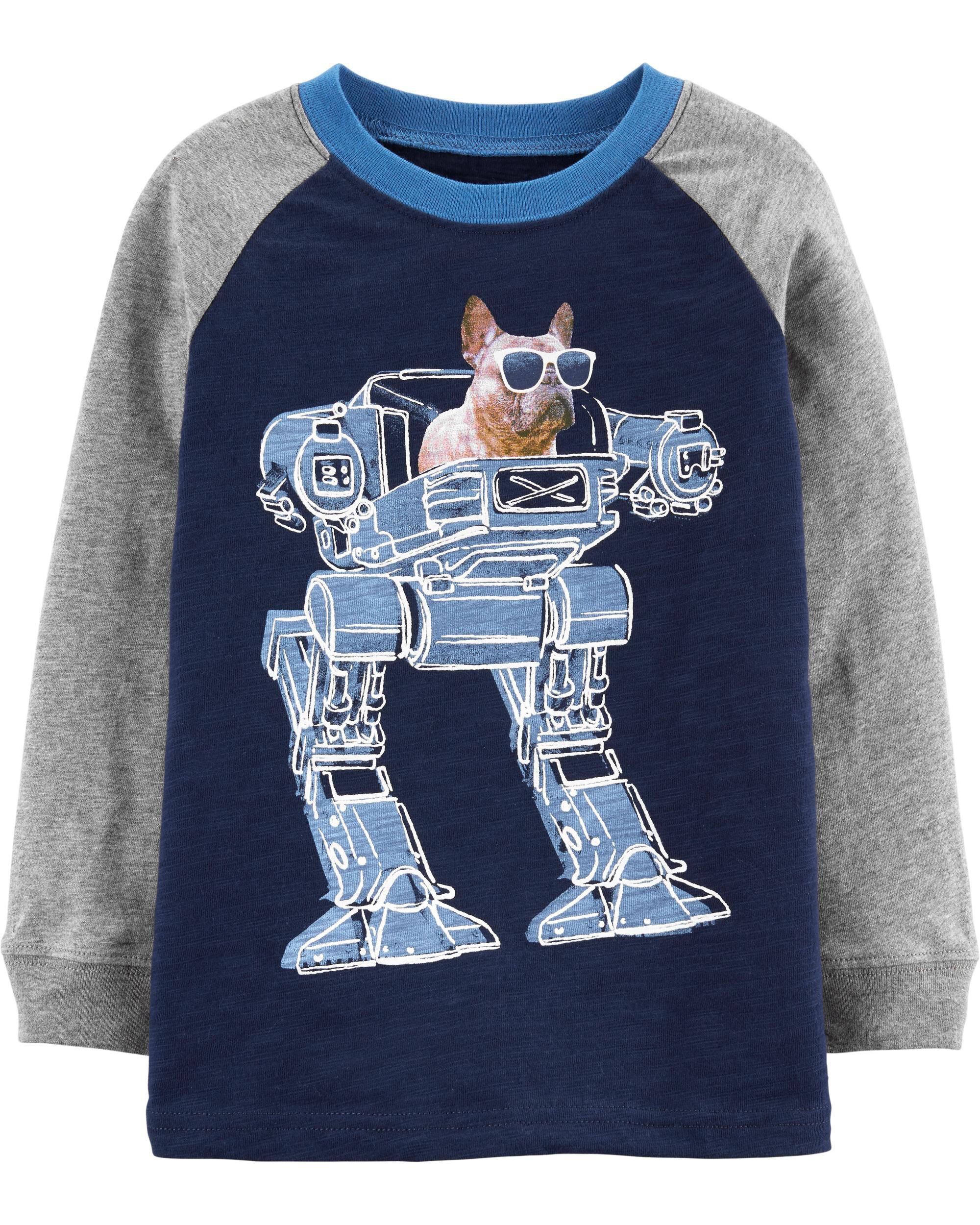 *CLEARANCE* French Bulldog Robot Slub Jersey Tee