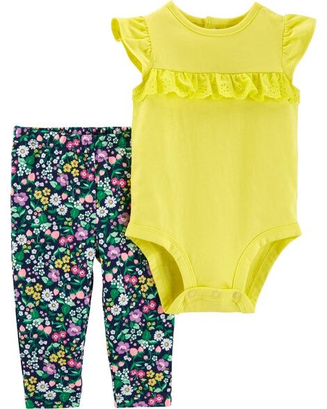 2-Piece Lace Bodysuit Pant Set