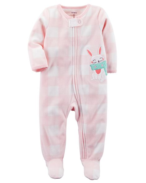 Images. Bunny Zip-Up Fleece Sleep   Play. Loading zoom 07860f21a