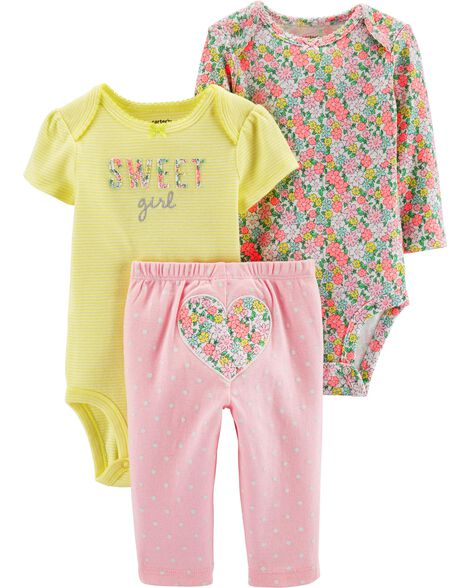 0afcdebe1 3-Piece Heart Little Character Set | Carters.com