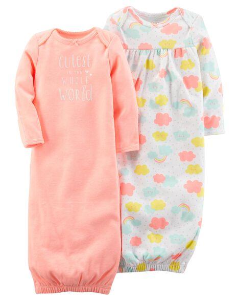58ecc522d 2-Pack Babysoft Sleeper Gowns