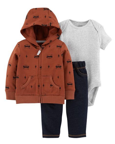 54ee9471a136 3-Piece Raccoon Little Jacket Set