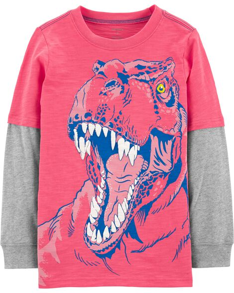 f45b7424c658 T-Rex Layered-Look Tee