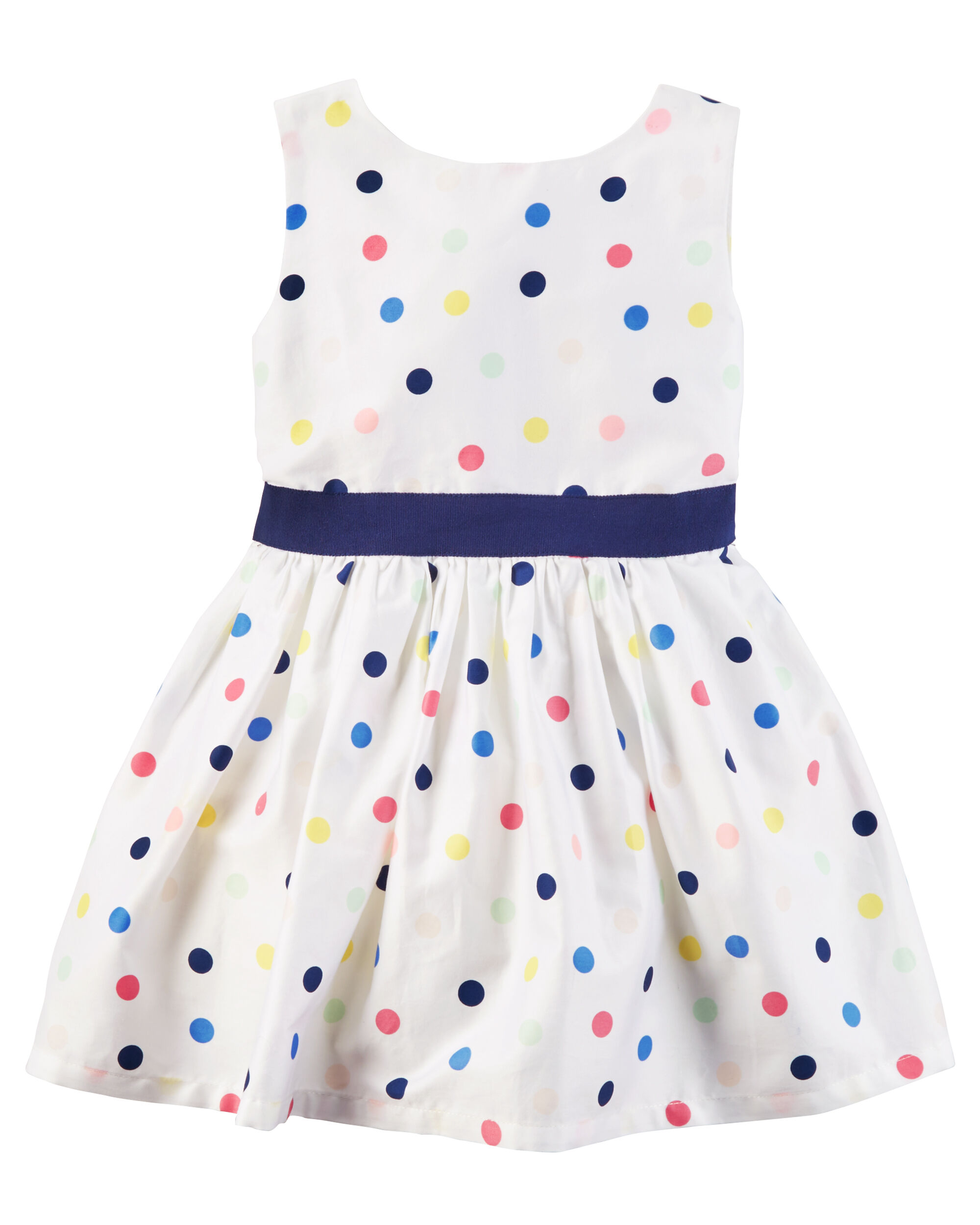 Sateen Polka Dot Dress