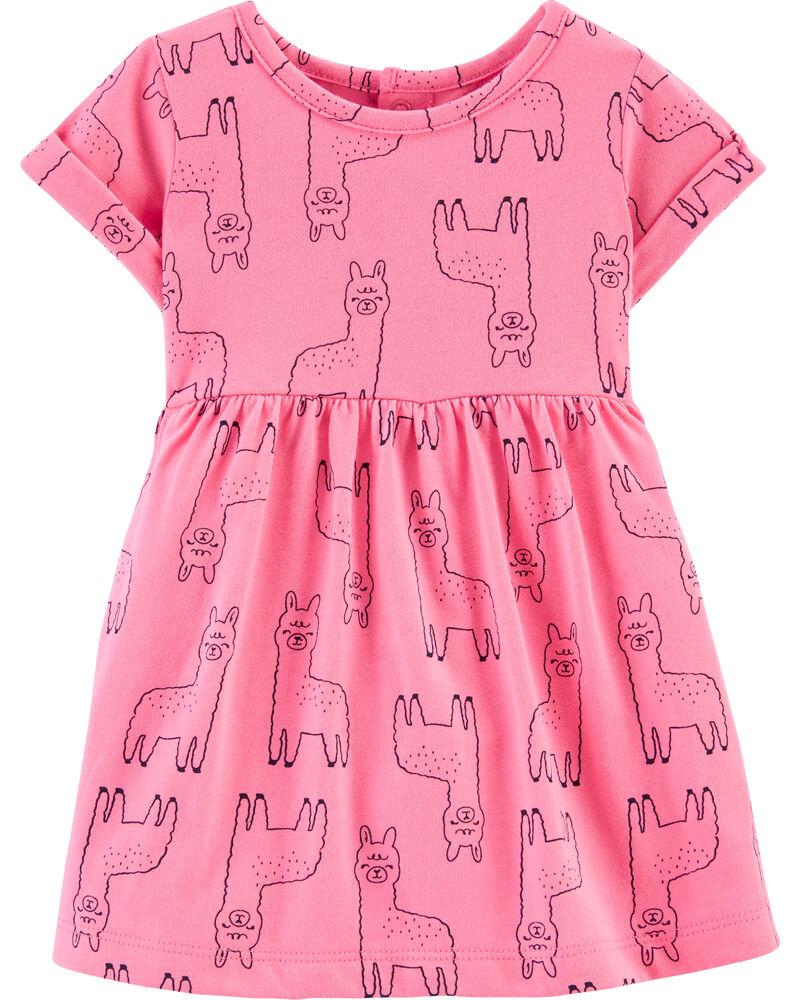 Llama Jersey Dress, , hi-res