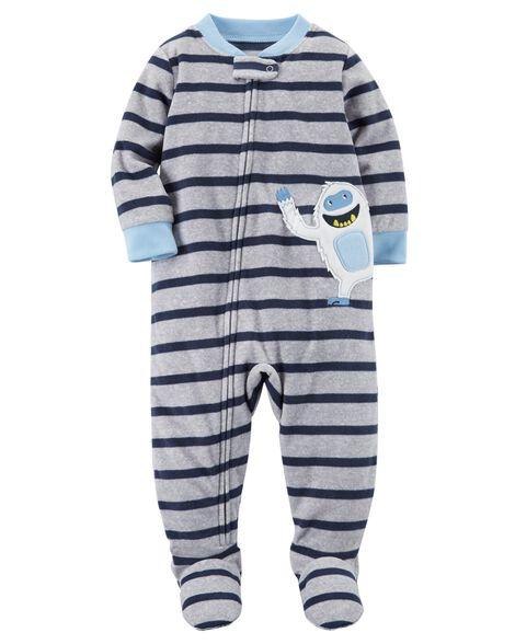 c44ce9d3864e 1-Piece Abominable Snowman Fleece PJs