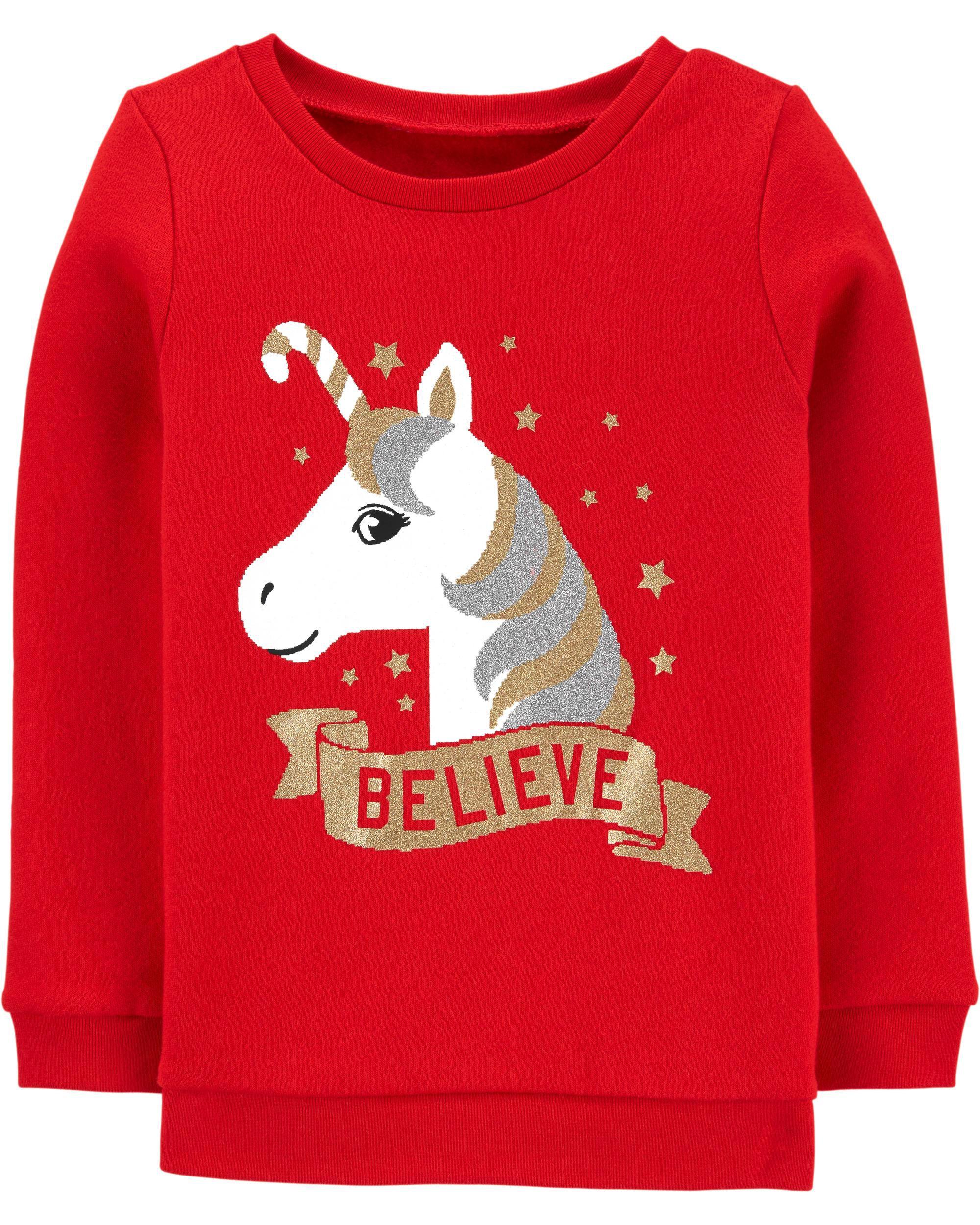 *CLEARANCE* Unicorn Christmas Crew Neck Sweatshirt