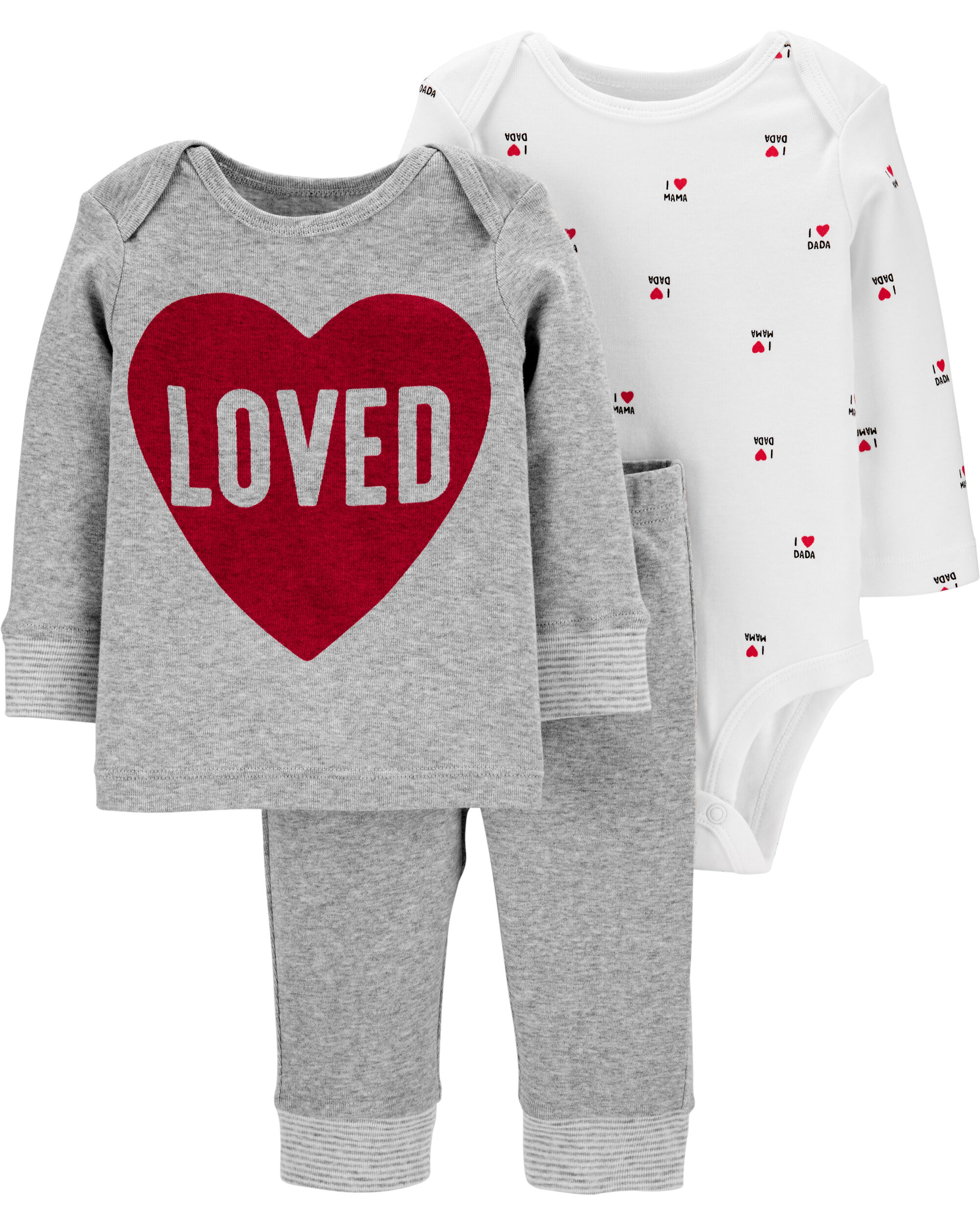 Toddler Kids Baby Girls Valentine/'s Day Clothes Top T-shirt Pants Legging Outfit