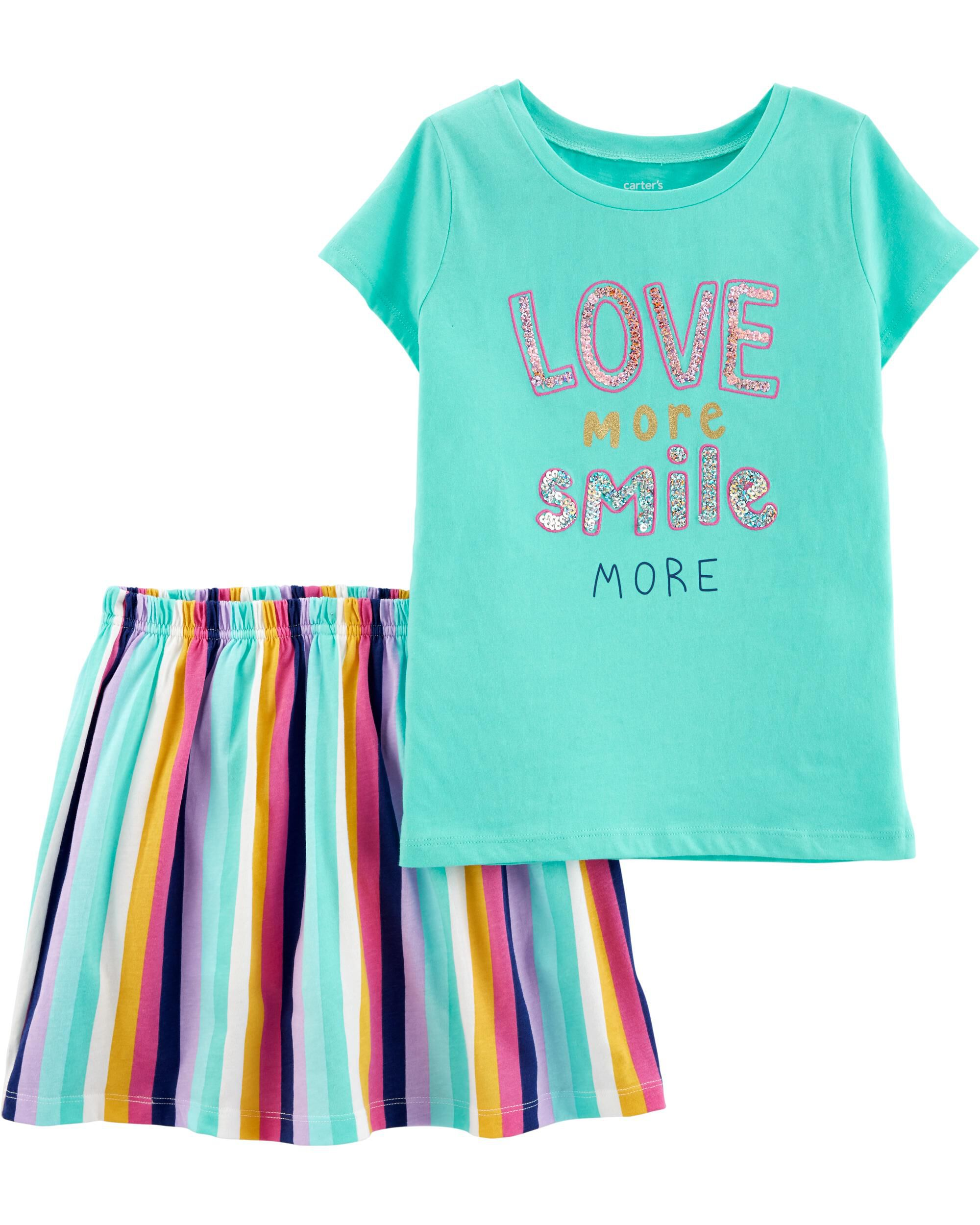 Tops & T-shirts Girls Carters Gray Short Sleeve Top 2t
