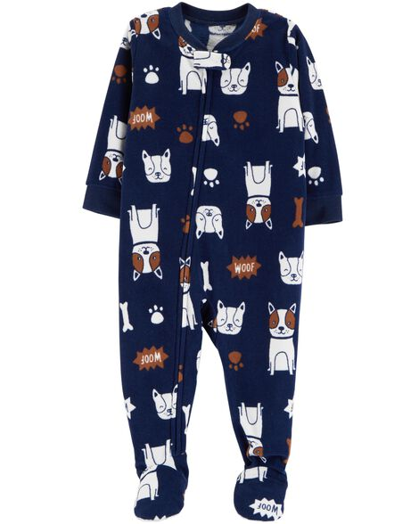 20d51e304850d 1-Piece Dog Fleece PJs | Carters.com