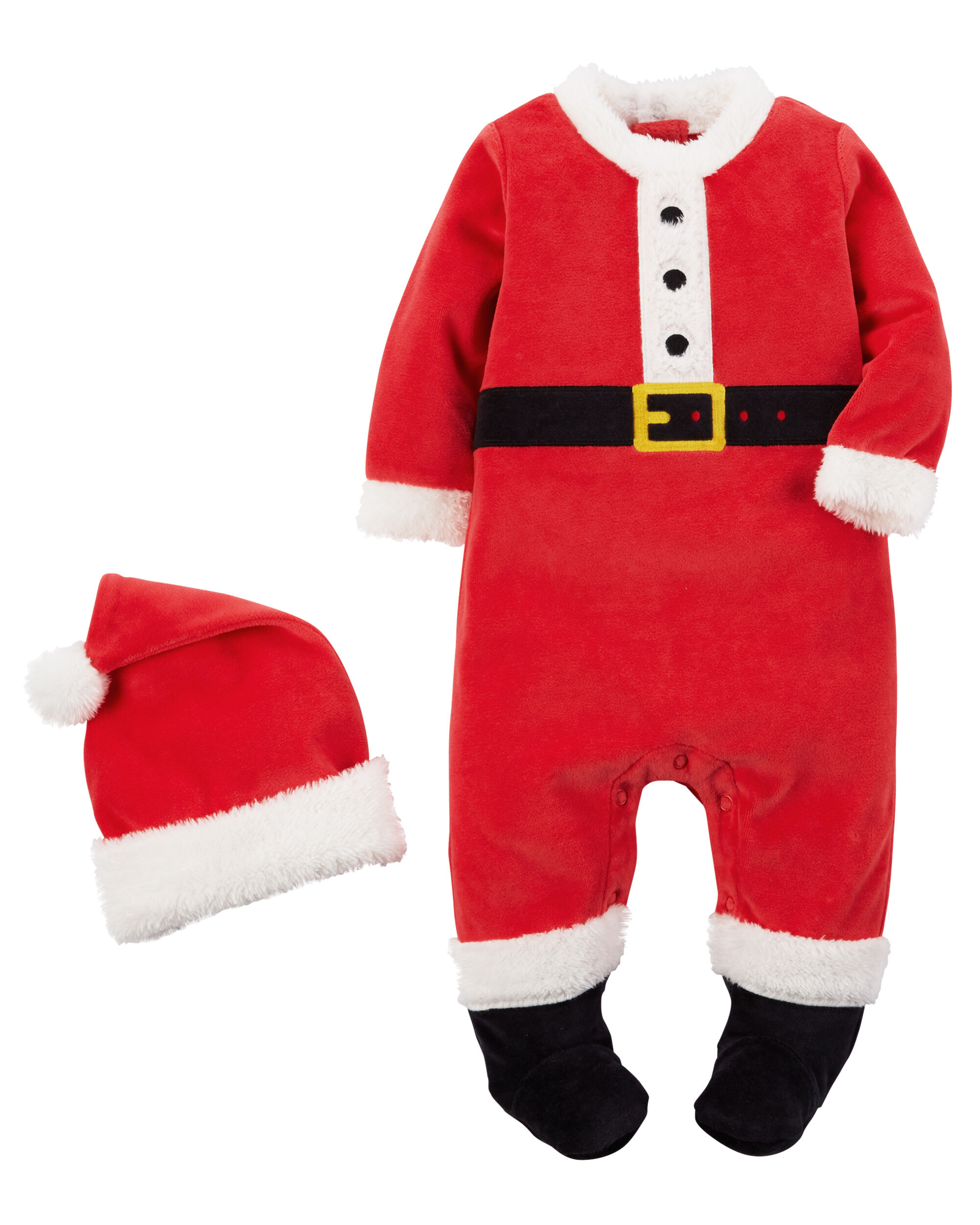 2 Piece Velour Santa Suit