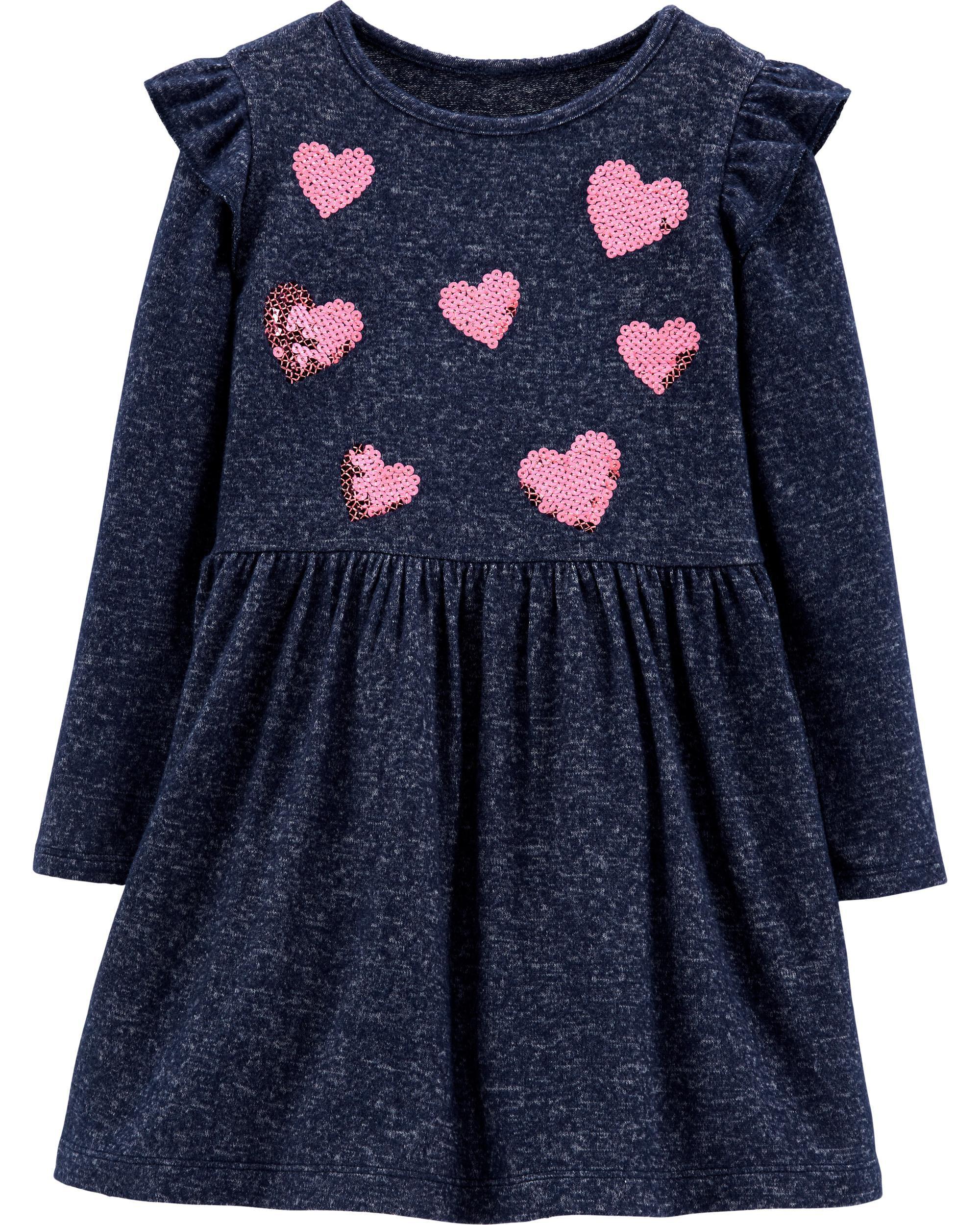 Glitter Heart Jersey Dress