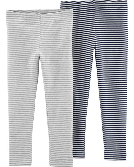 2-Pack Striped Leggings
