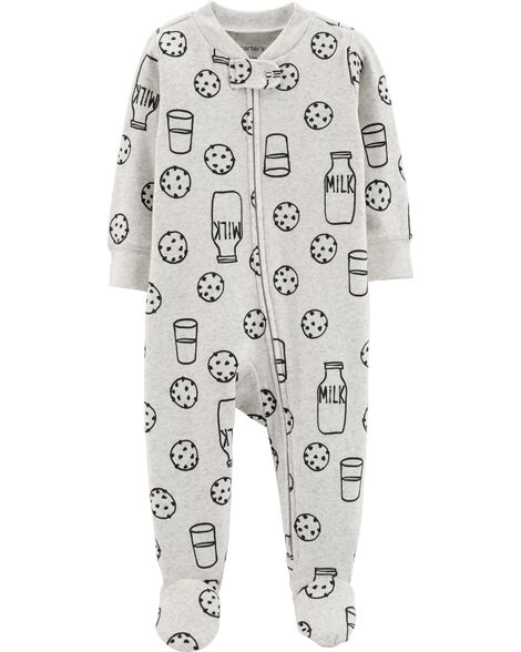 Cookies   Milk Zip-Up Cotton Sleep   Play  c0a342a9c