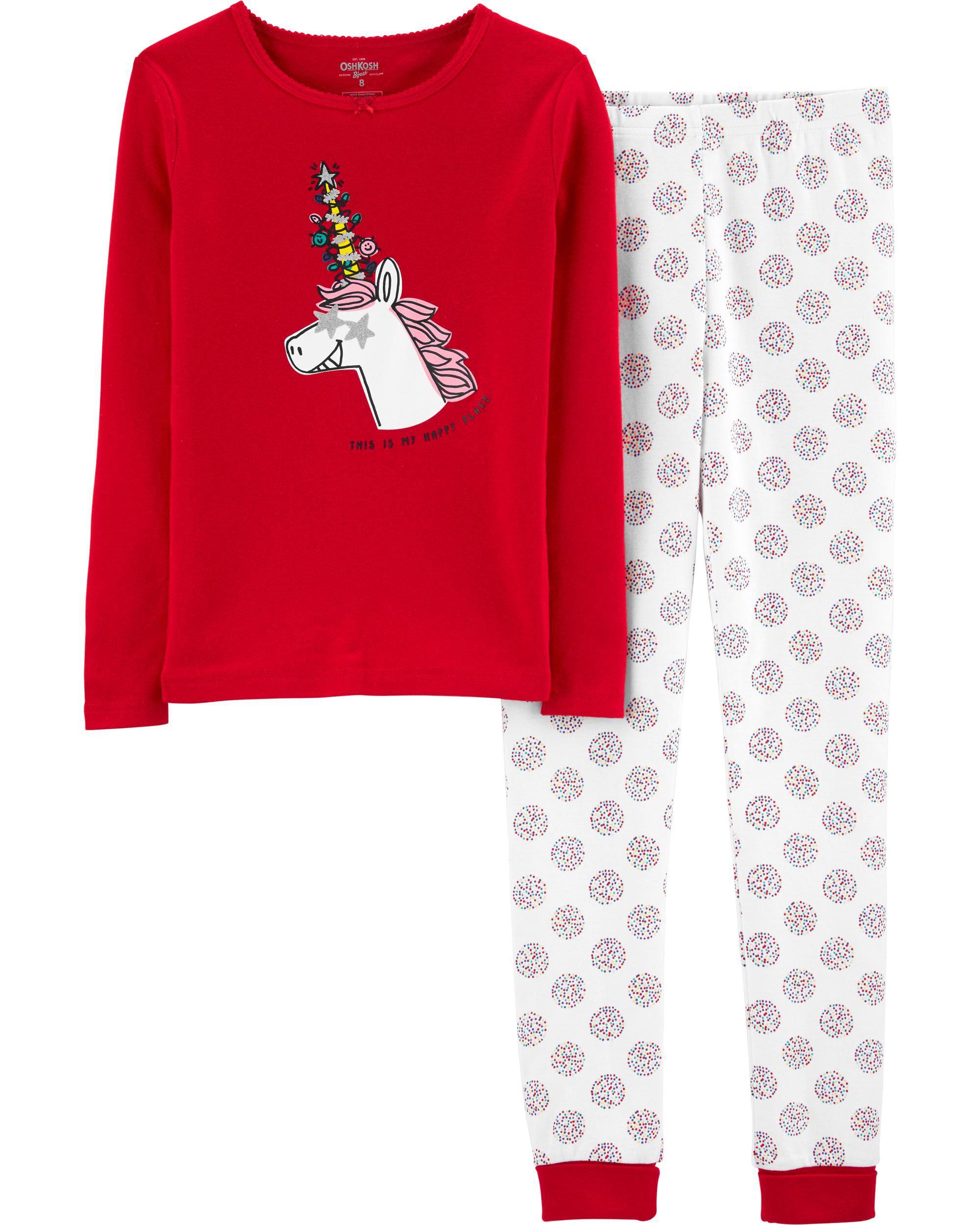 *DOORBUSTER* Snug Fit Holiday Unicorn Cotton PJs