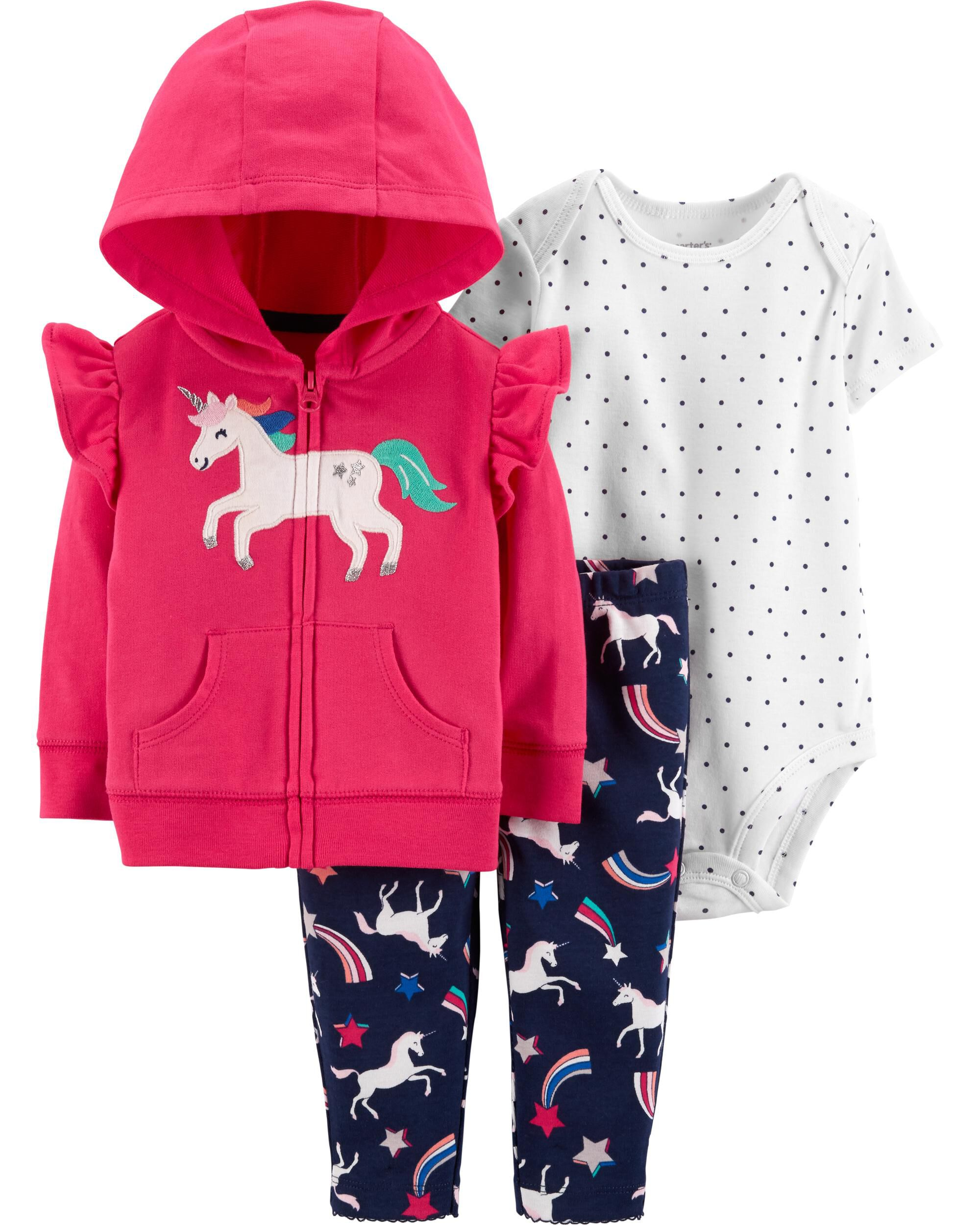 7b69956cf38d 3-Piece Unicorn Little Jacket Set