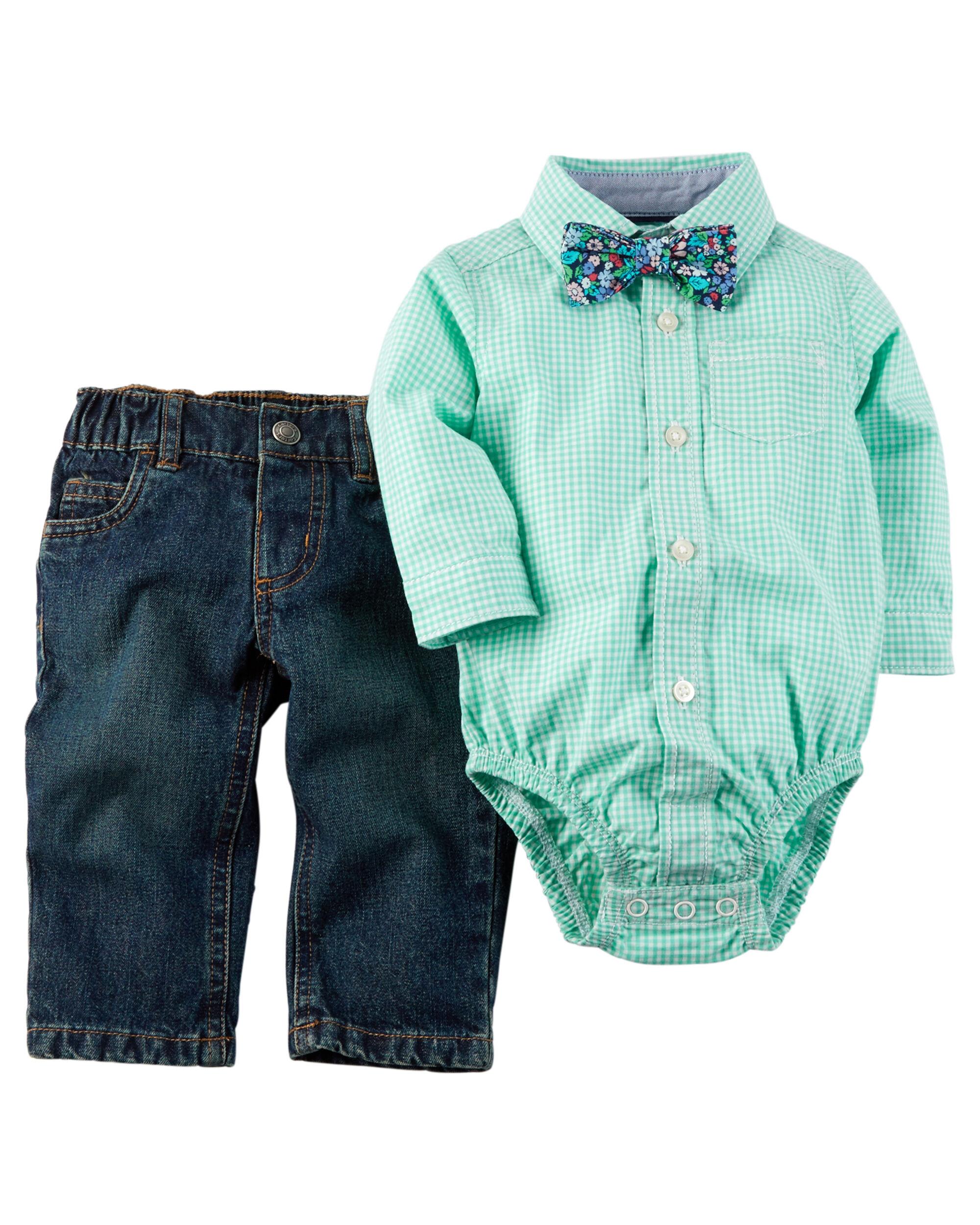 Piece Shirt Pant Set Carters