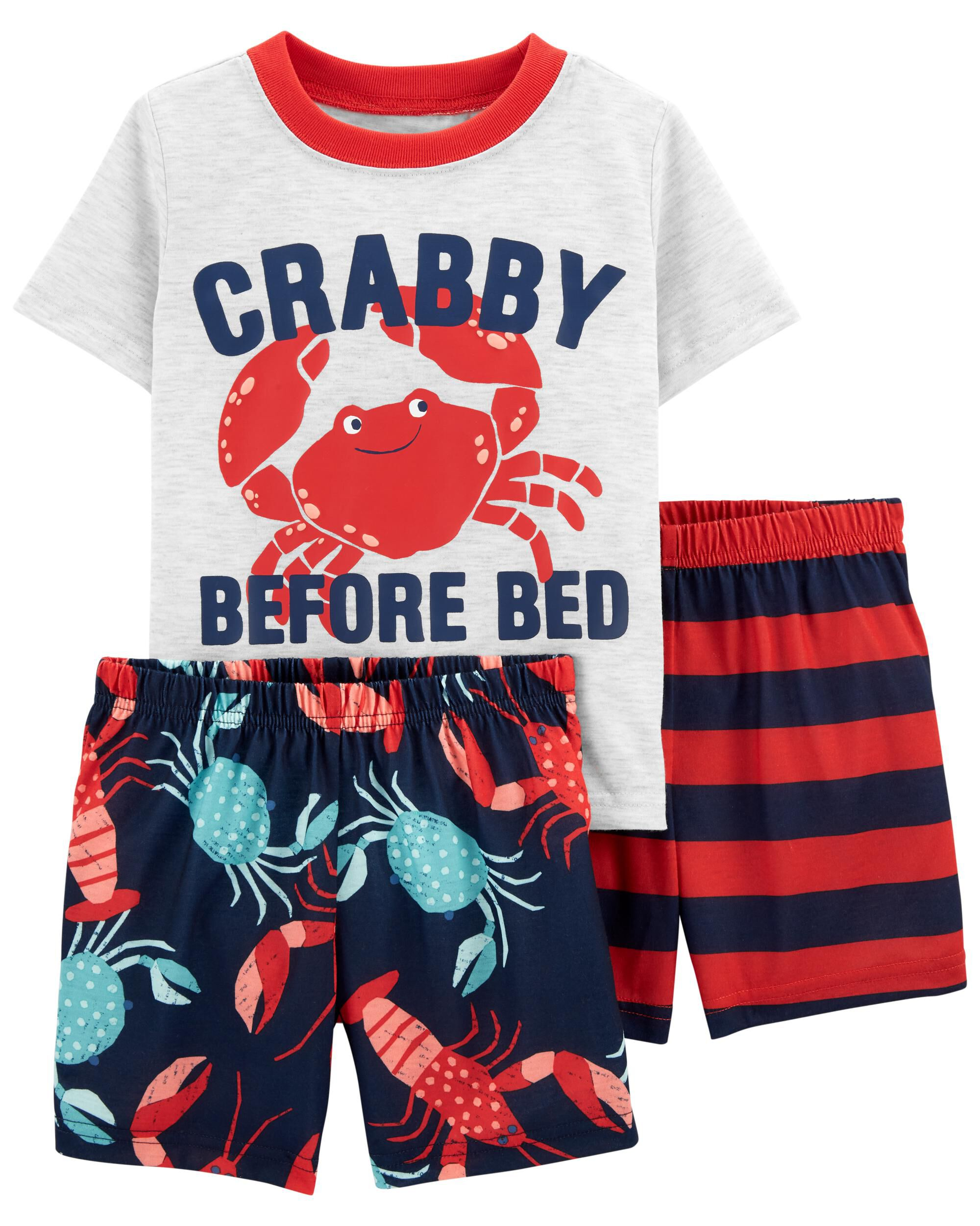 3-Piece Crab Loose Fit PJs