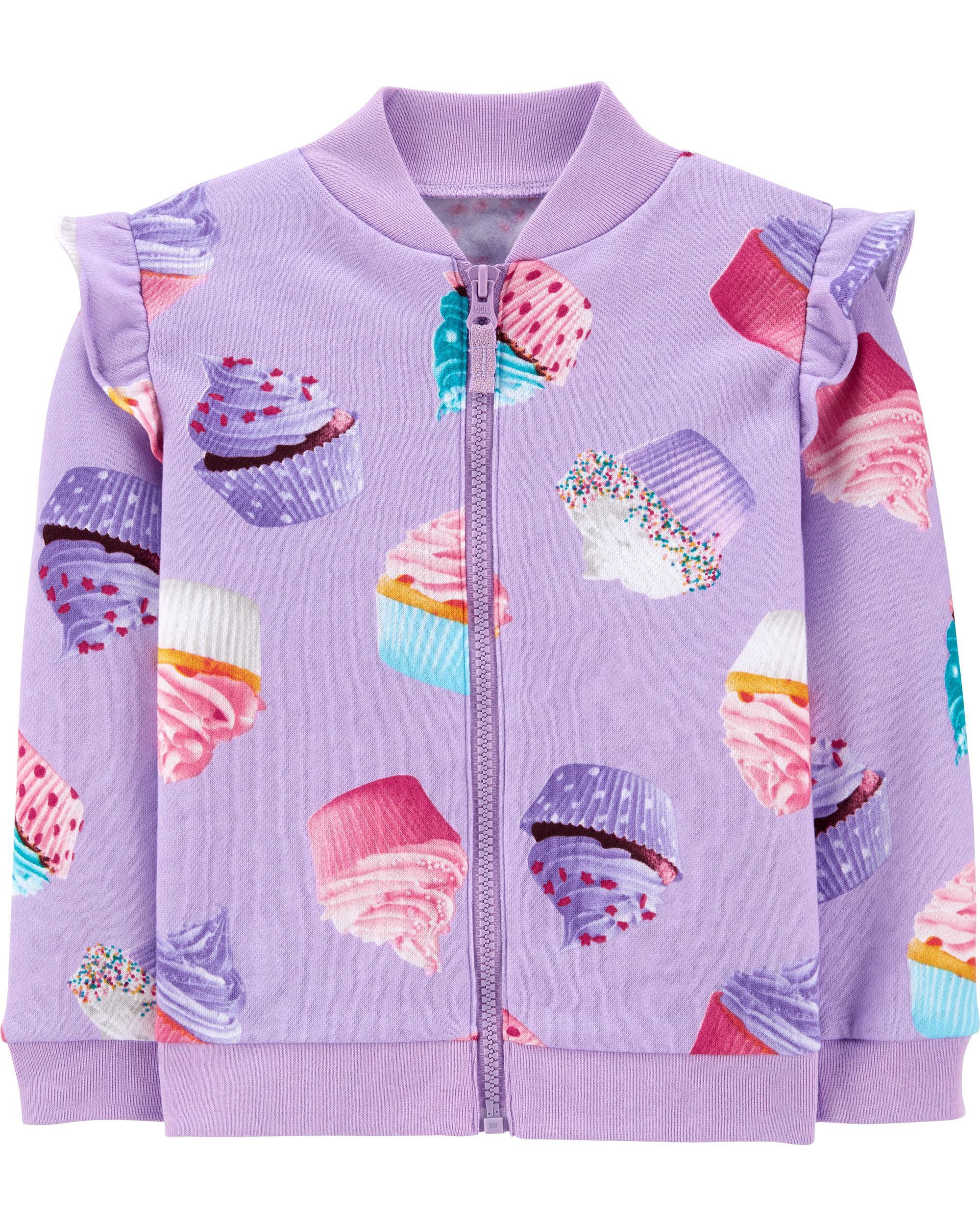 *CLEARANCE* Cupcake Zip-Up Fleece Jacket