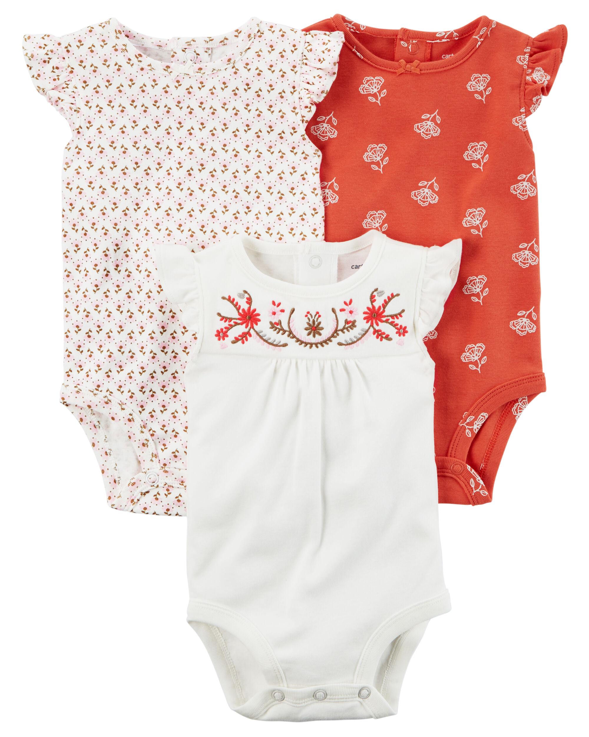 3 Pack Flutter Sleeve Original Bodysuits