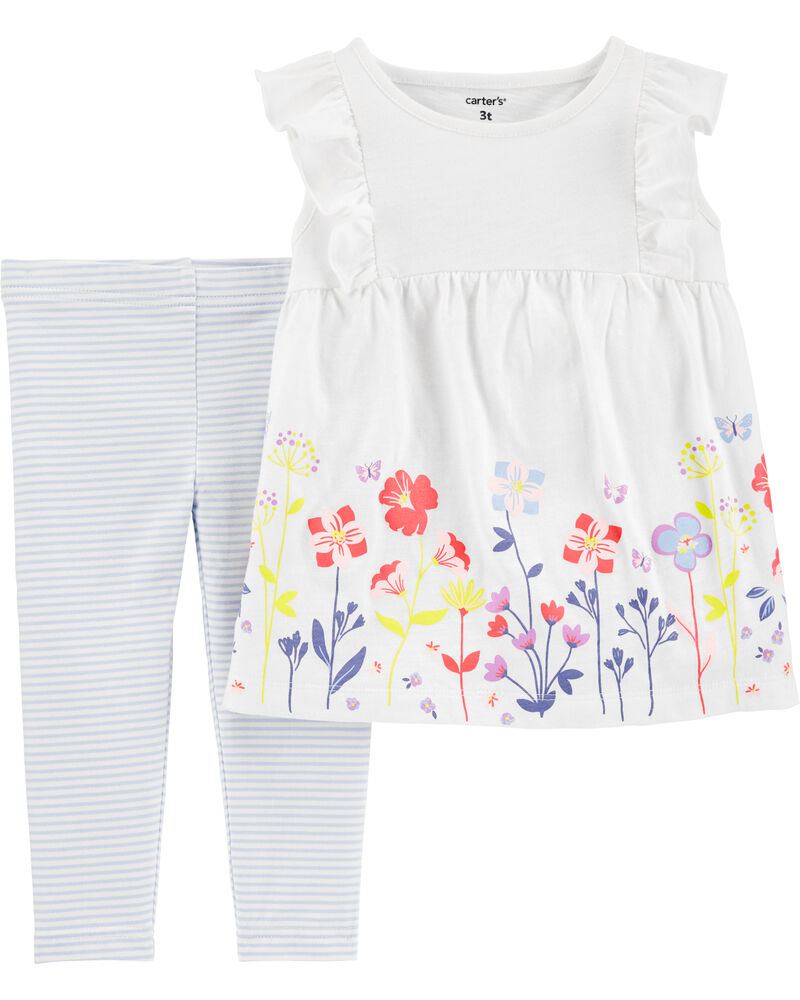 Carters Girls 2T-4T Floral Leggings 4T