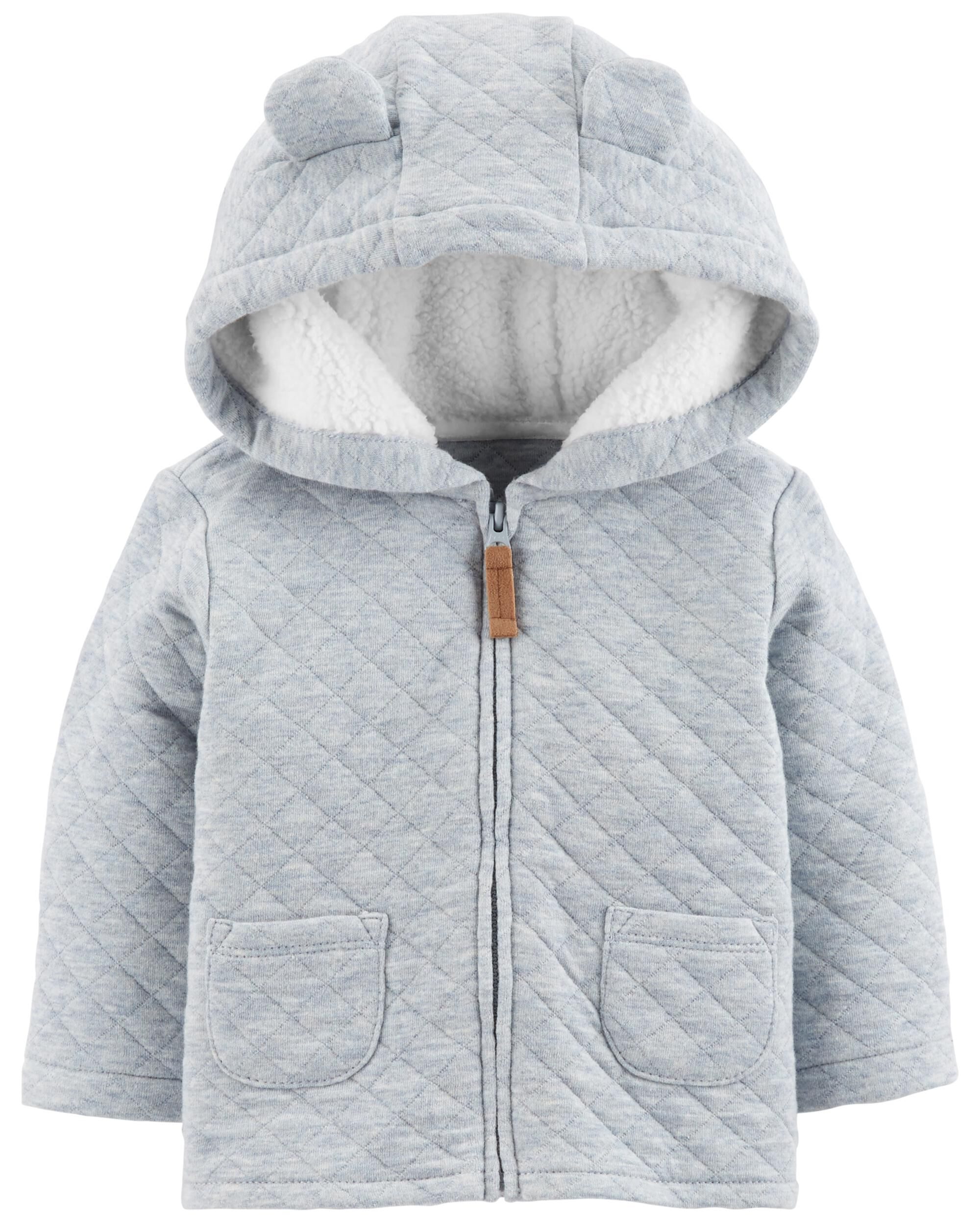 4442f66b4 Zip-Up Quilted Heather Jacket
